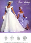 Murray Hamburger bridal couture - U.S. Modern Bride 12-1985