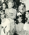 with Eileen Ford and model group - german Carina 02.05.83