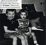 little Renée with her sister b/w - danish EUROWOMAN 09/04