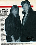 """ANGELA"" - ital. IL MONELLO 27.02.87 -b/w at Golden Globe with J.T."