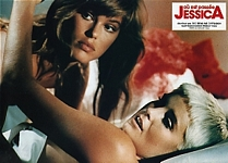 "french ""JESSICA"" cinema ad. 1 from Sotto movie in bed with blonde - ital. intrepido SPORT 22.09.87 #38"