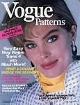 U.K. VOGUE Patterns Early Autumn 1985 cover by Eric Boman