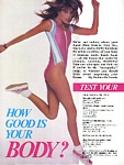 """How good is your body?"" 1 - australian Cosmo 04/86 by Bruno Gaget"