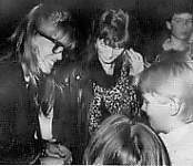 danish 1987 signing autographs with glasses