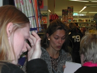 30. Nov. 2003 at danish book-store Gad in Brabrand, Karlas Kabale promo-tour 2