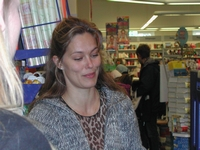 30. Nov. 2003 at danish book-store Gad in Brabrand, Karlas Kabale promo-tour 3