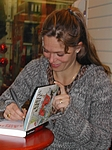 30. Nov. 2003 at danish book-store Gad in Brabrand, Karlas Kabale promo-tour 16