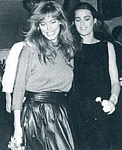 with Yasmin at party b/w - ital. MODA Nov. 1986