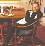 danish Sondag 16. May 1994 - on chair in her house hair back