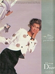 Christian Dior 5b w/ Roberta Chirko - french marie claire bis print./ete 1988
