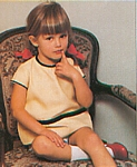 danish Asschenfeldts Magasin Feb. 1997 - little girl on chair