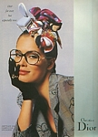 Christian Dior 8 glasses - U.K. VOGUE 4-1989