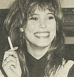 danish - at her agency 1985 with cigarette laughing