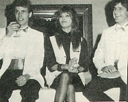 danish SE OG HOR - at her agency 1985 sitting with 2 guys around