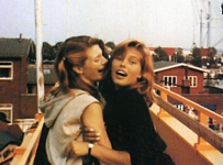 danish EUROWOMAN Sep. 2004 - teenie girlfriends having fun on the roof