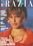 ital. GRAZIA 18. Aug. 1985 cover by Gilles Bensimon