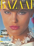 ital. BAZAAR May 1983 cover by Patrick Demarchelier