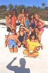 """BEAUTE MODE"" 1 group on the beach - french ELLE 15. July 1983 by Gilles Bensimon"