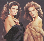 ital. GIOIA - Via Montenapoleone movie pic in fur with Carol Alt and naked guy