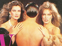 Via Montenapoleone movie pic in fur with Carol Alt and naked guy