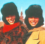 danish - 1987 moscow with Christy Turlington fur cabs