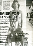 b/w red-white-striped dress from danish Supermodel Ekstra Bladet 19.02.1988 - 8/1982 by Jacques Silberstein