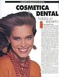 "Vanidades 10. Jan. 1989 ""COSMETICA DENTAL"" by Alain Longeaud - serie ital. ANNA 17. June 1988 cover"