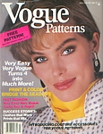 U.S. VOGUE Patterns July-August 1985 cover by Eric Boman