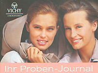 VICHY 40 Teint de Peau Proben-Journal w/ Estelle Lefebure - german 1991