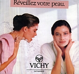 VICHY 23 Aqua-Tendre w/ Rosemary Mc Grotha - french marie claire 3-1987