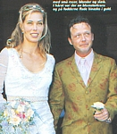 danish SE OR HOR 31. Aug. 2000 - wedding, coming out of the church with Thomas